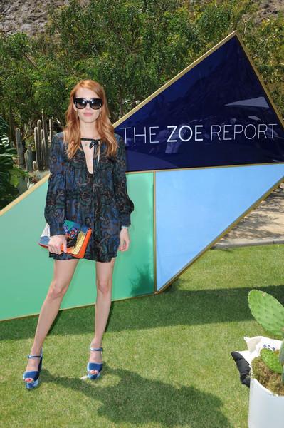 Coachella day 2 emma roberts lea michele scream The zoe report